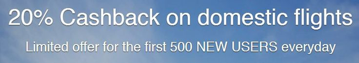Get 20% Cashback On Domestic Flights  Cleartrip