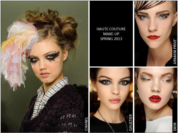 Dalla settimana dell'alta moda parigina di Gennaio 2013 ecco tutte le tendenze make-up viste in passerella!