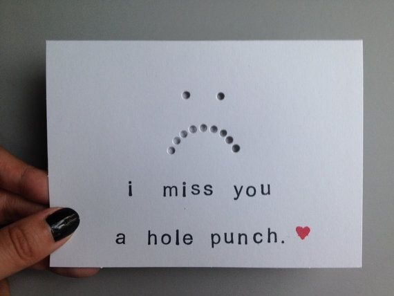 """""""I love you a hole punch"""" with a heart for valentines day"""