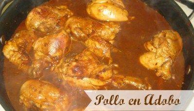 Receta de Comida Mexicana: Pollo en Adobo - Chicken In Adobo Sauce Mexican Recipe