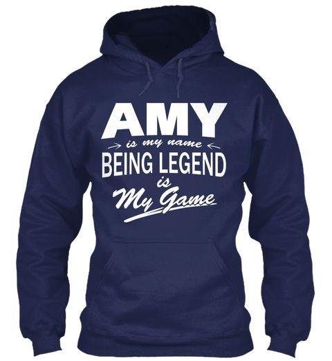 Amy Name, Legend Game Navy Sweatshirt Front