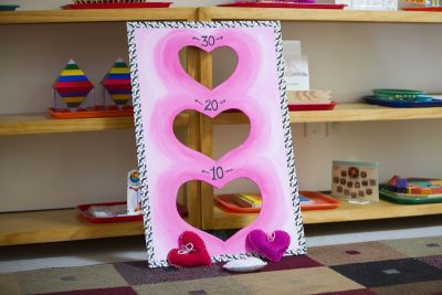 Michaels craft store project idea for valentines school party. Looks cute!