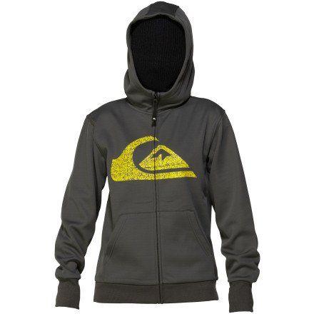 Quiksilver Youth Boys Nice Hoody Zip Sweatshirt, Dark Shadow, 2X-Large
