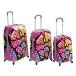 Rockland F150-LOVE 3Pc Vision Polycarbonate/ABS Luggage Set - Multi