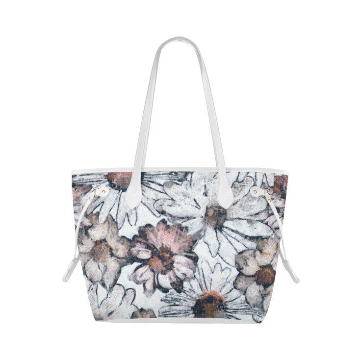 Abigael, flowers, pastel, Clover Canvas Tote Bag (Model 1661)