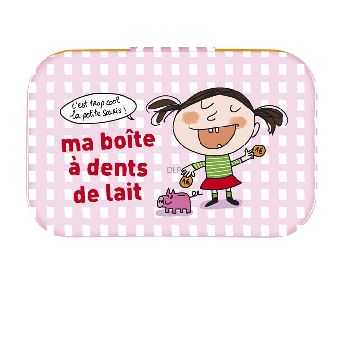 une dent qui bouge (et qui tarde à tomber) et on a acheté une boite à dents pour Ysandre !