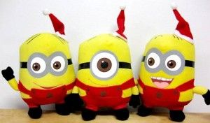 Despicable Me The Movie Official 6″ Inch Soft Plush Toy #Minion Figures #Christmas Santa's Little Helpers Dave Jorge Stewart Limited Edition