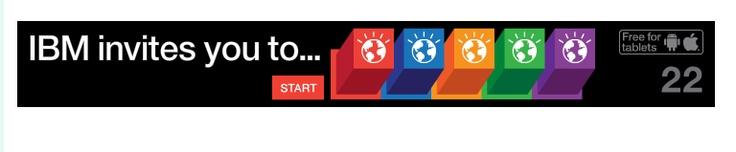 neat interactive IBM banner