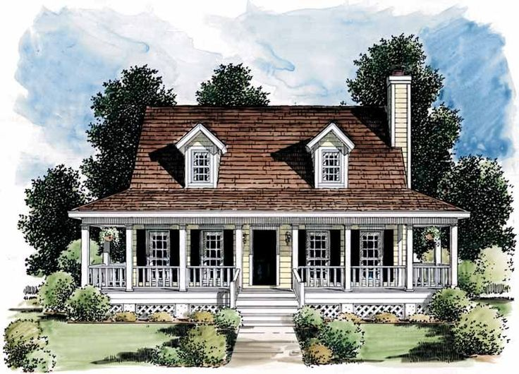 Eplans Farmhouse House Plan Porch Makes Small Home Look