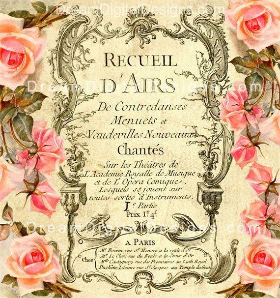Vintage Rose Digital Download