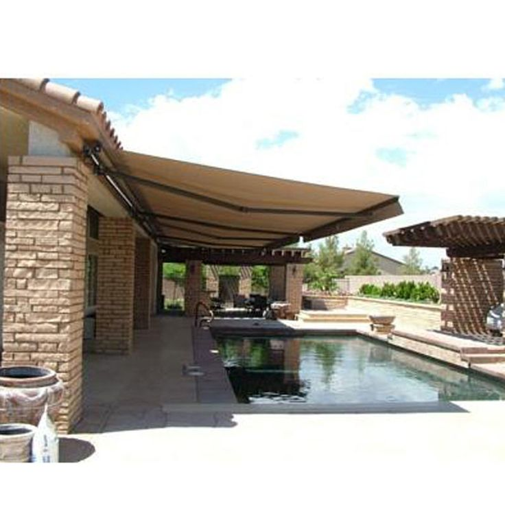 ALEKO Awning 10' X 8' (3m X 2.5m) Retractable Patio Outdoor Shade Sand Color #ALEKO