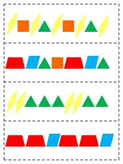 What Happens in First Grade: Pattern Block Cards - Hello Winter Math Pack!