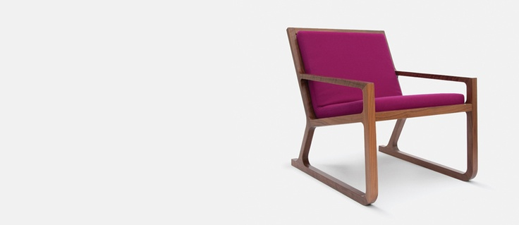 Aiken low chair - love the walnut and fuchsia -works so well together :-)