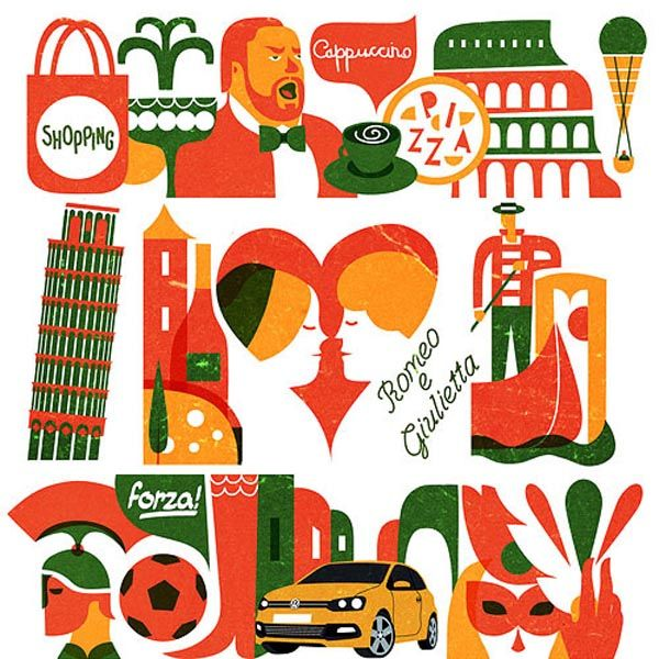 Volkswagen on Look at me - Italy Illustrations by Iv Orlov