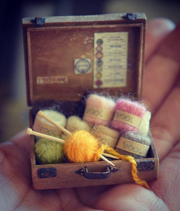 Miniature knitting supplies