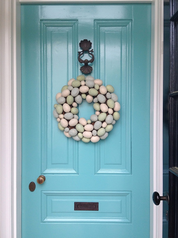 Wreath, cute. But that door, now that's really something!