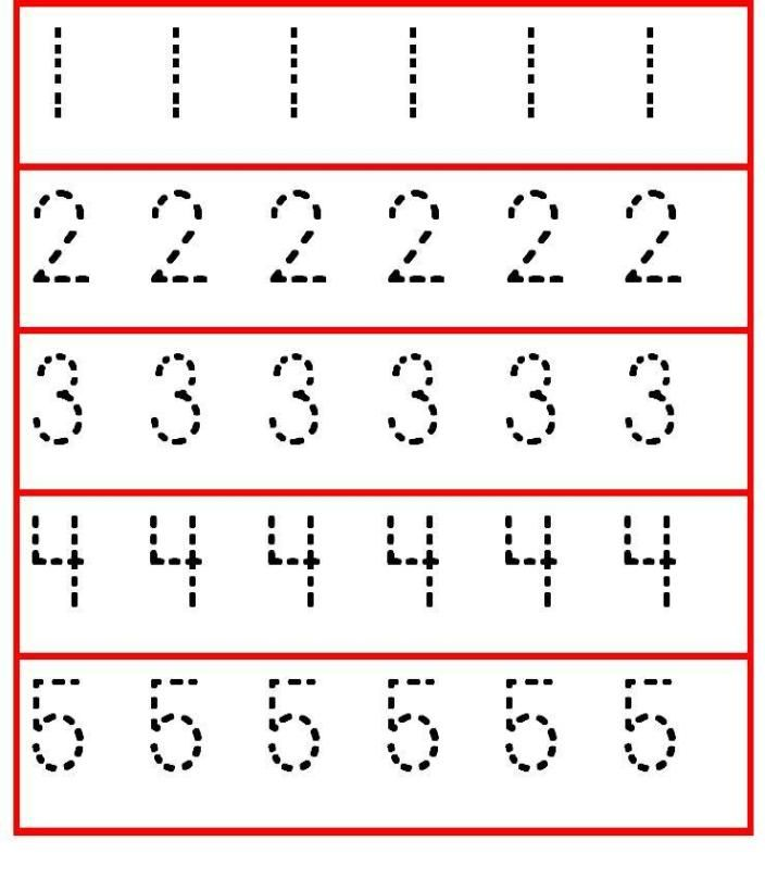 Preschool Number Worksheets Numbers 1 2 3 4 5 Worksheet Practicing