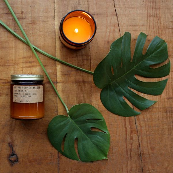 Summer Breeze. Shop now at The Candle Library. P.F. Candle Co. hand pour their candles in LA using 100% soy wax.