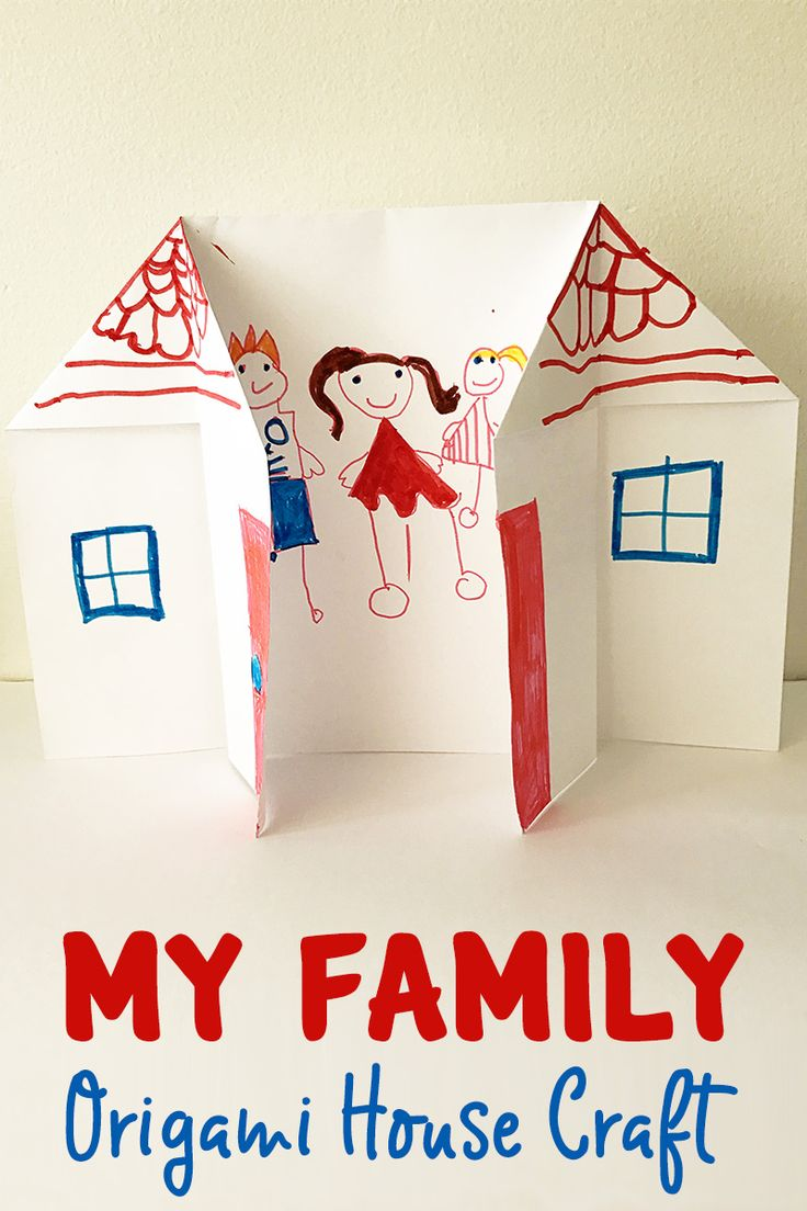 Family Origami House - great lesson about families for preschool and  kindergarten