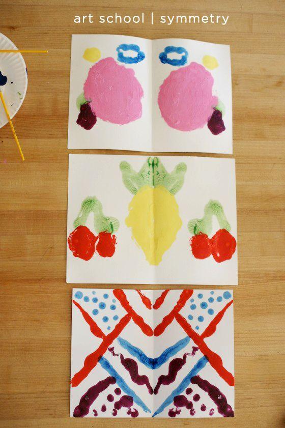 kids art lesson about symmetry by @Deborah Harju