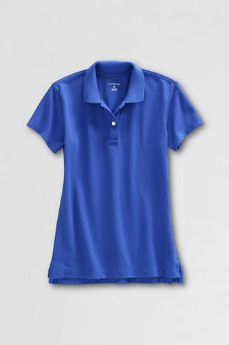 Women 39 s short sleeve feminine fit mesh polo shirt cobalt for Cobalt blue polo shirt