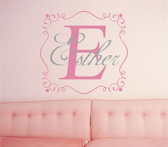 Nursery Name Wall Decal,custom Baby Room Wall Sticker,Personalized Kids  Name Wall Decal