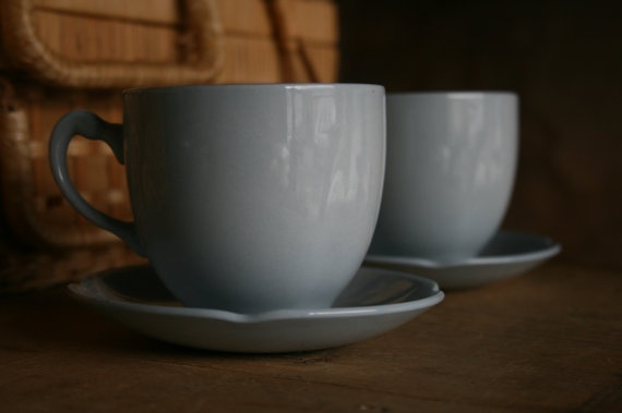 S A L E  English MidCentury Tea Set  Grey Dawn  7pc by junkshopUK, £18.00