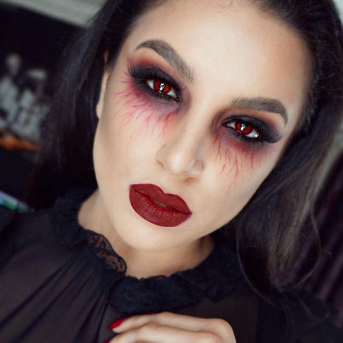 ▷ 1001 + kreative Ideen für ein einfaches Halloween Make Up
