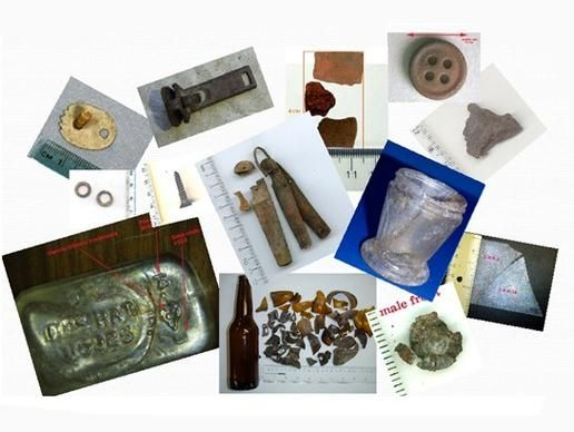 """NEWS: Earhart's Anti-Freckle Cream Jar Found. Apart from the fire features, the researchers also found a knife that was beaten apart to detach the blades, and several broken, partially-melted bottles in the remains of a cooking fire. They were probably used to boil or distill drinking water. """"These objects tell a fascinating story of ingenuity, survival and, ultimately, tragedy,"""" Gillespie said."""