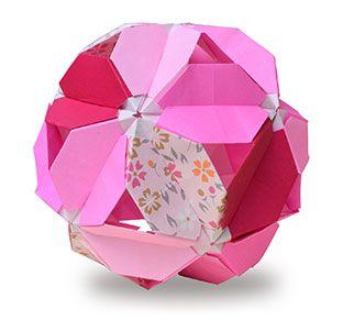 origami kusudama cherry-blossoms-system