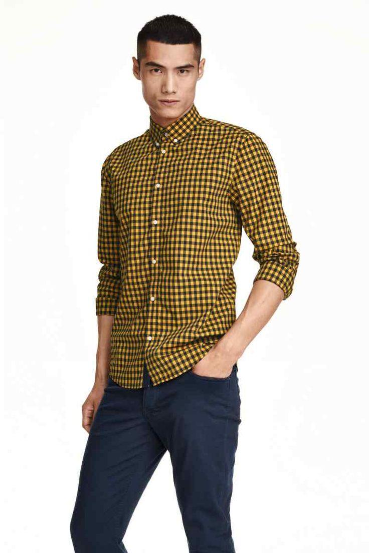 Camisa de cuadros en algodón | H&M