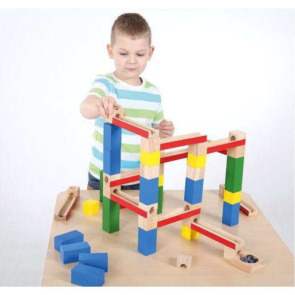 Drewniany kulodrom dla dzieci Moje Bambino #fun #wood #kids   http://www.mojebambino.pl/klocki-konstrukcyjne/3503-drewniany-kulodrom.html