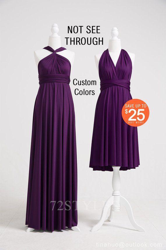 Dark Purple Infinity Dress Inf Multi Way Dress Dark Purple