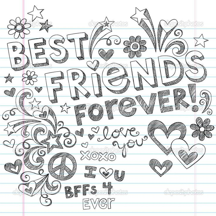 33 best bff's images on pinterest | coloring books, drawings and ... - Friends Quotes Coloring Pages