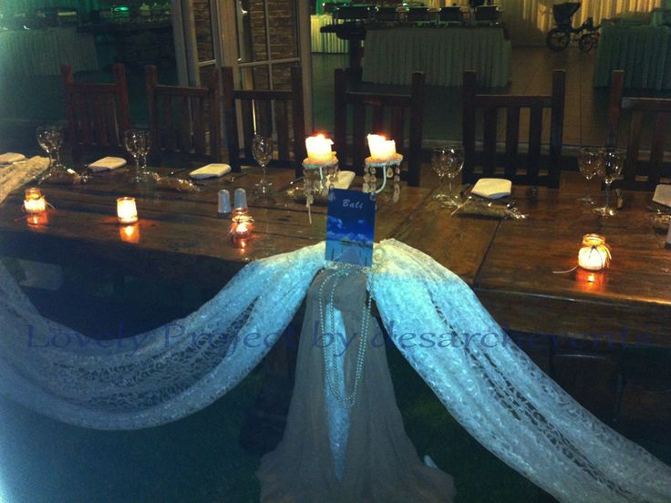 the bride & groom table
