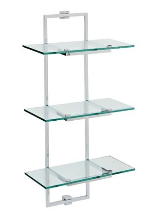 Perfect Cubic Glass Bathroom Shelving Unit