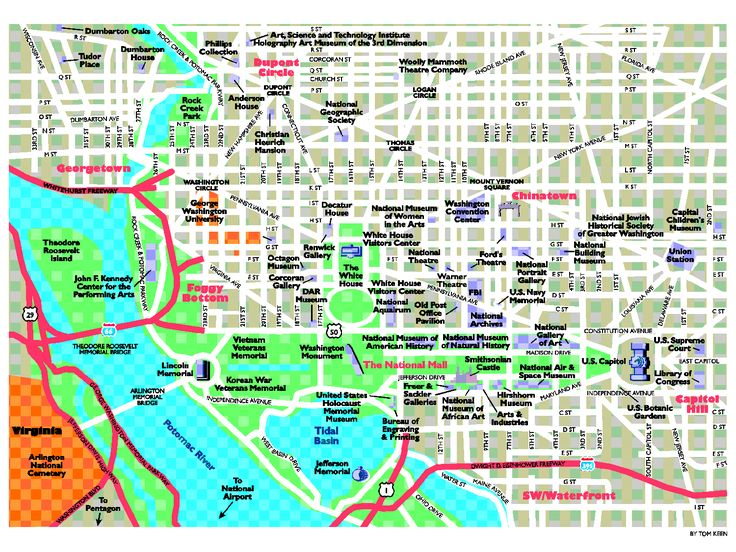Tourist Map of DC Monuments | Must See, Eat, Do Recommendations for Washington D.C.