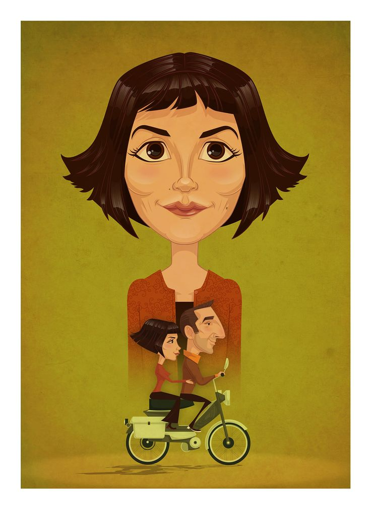 Cute Amelie movie art!!!!!!!