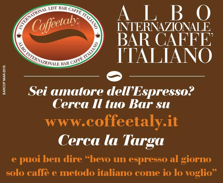 Amatore dell'espresso al'italiana