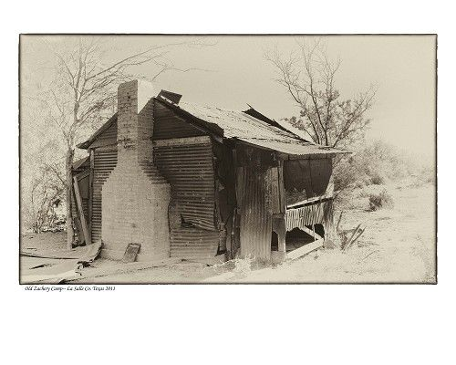 """""""Old Zachery Camp, La Salle County, TX"""" by Tommy Lavergne, digital photographic print, 2011, 16""""x20"""" www.thornwoodgallery.com"""