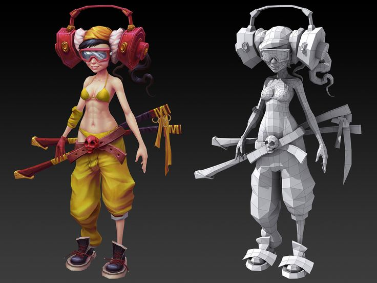 character model - texture & wire