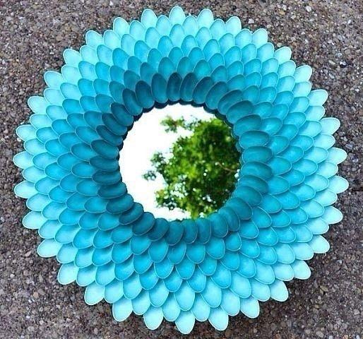 Идейки декора из пластиковых ложек