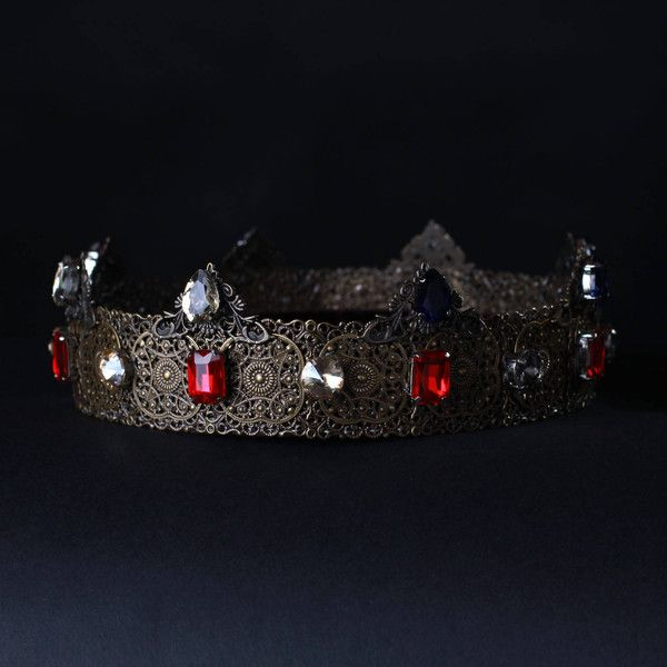 MEDIEVAL Crown, Dolce Style, Male Crown, Mens crown, King costume, got... ($88) ❤ liked on Polyvore featuring men's fashion, men's clothing and men's costumes