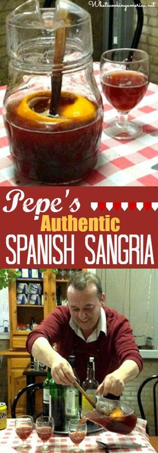 Authentic Spanish Sangria Recipe  |  whatscookingamerica.net  |  #spanish #sangria #redwine