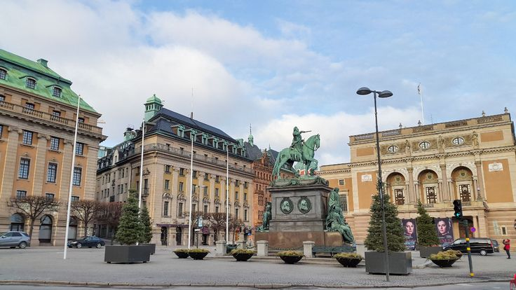 Statue of Gustav II Adolf in Stockholm
