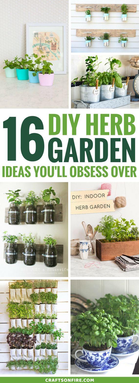 16 DIY Herb Garden Ideas Youu0027ll Obsess