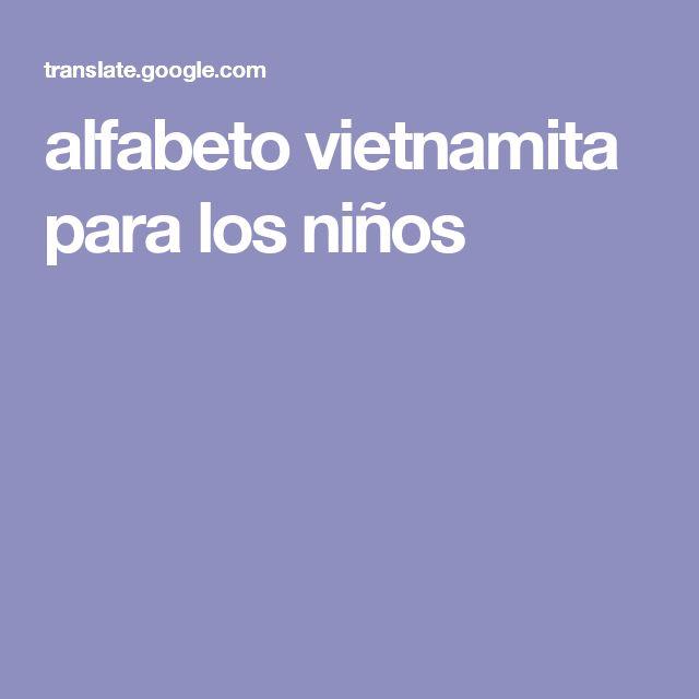 alfabeto vietnamita para los niños