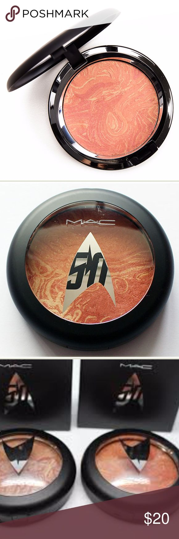 MAC Strange New Worlds Face Powder MAC Strange New Worlds Trip the Light Fantastic Powder ($34.00 for 0.22 oz.) is a medium, orange-copper with warm undertones and a golden shimmer-sheen finish. Brand new, never used or swatched.  Comes in box and still has plastic protective disc. Non-smoking, pet-free home. MAC Cosmetics Makeup Face Powder