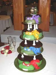 ninja turtle wedding cake