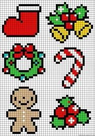 Navidad hama beads plantilla